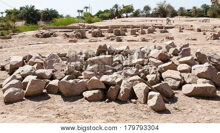 Excavations Of Ancient Ayla Town In Aqaba City
