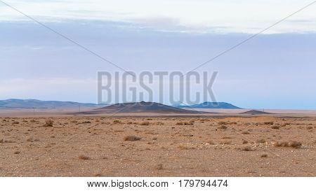 Wasteland Along Desert Highway (road 15) In Jordan