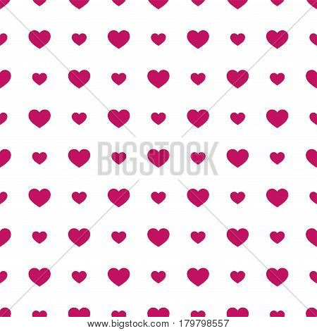 Seamless geometric pattern with hearts.Vector illustration on a valentines day.