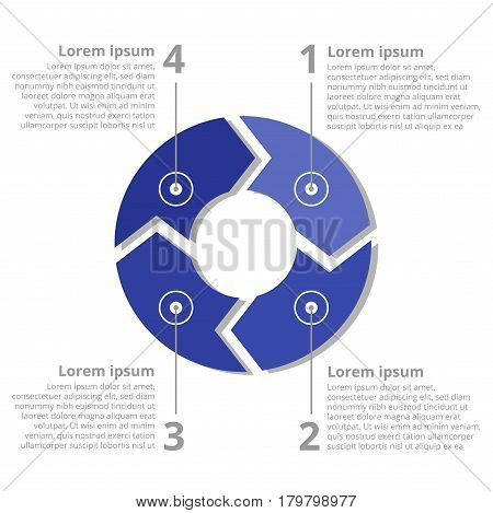 Vector circle arrows for infographic. Template for diagram, graph, presentation and chart.
