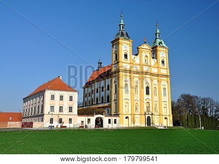 Old Catholic churches and monasteries, the village of Dub, Czech Republic, Europe