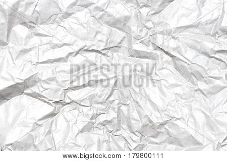 White crumpled paper and texture abstract background.