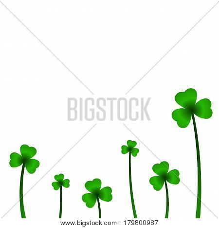 Background with clover in vector. Vector illustration.