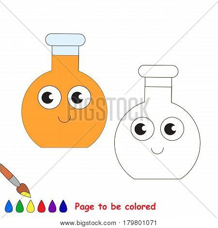 Glass Vial Tube to be colored, the coloring book for preschool kids with easy educational gaming level.