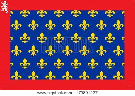 Flag of Sarthe is part of the current region of Pays de la Loire is a department in France.