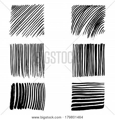Doodles set of strokes. Scribble collection. Ink sketches. Hand drawn vector effect. Simple illustration for web sites creative project or printed materials.