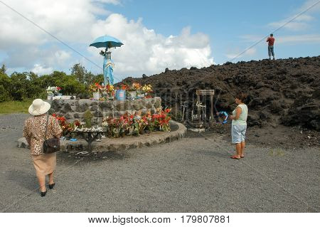 Sanctuary Of The Lava Eruption On La Reunion Island