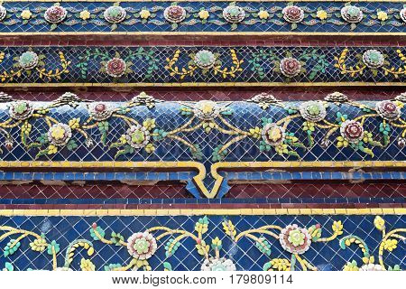 Detail of a facade of the buddhist temple Wat Pho in Bangkok; Thailand