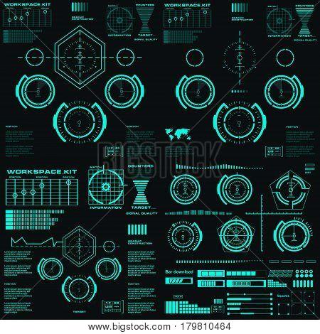 Futuristic Virtual Graphic Touch User Interface