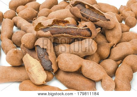 Tamarind isolated on a white background cutout