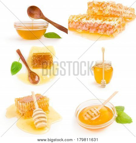 Set of Honey isolated on a white background cutout