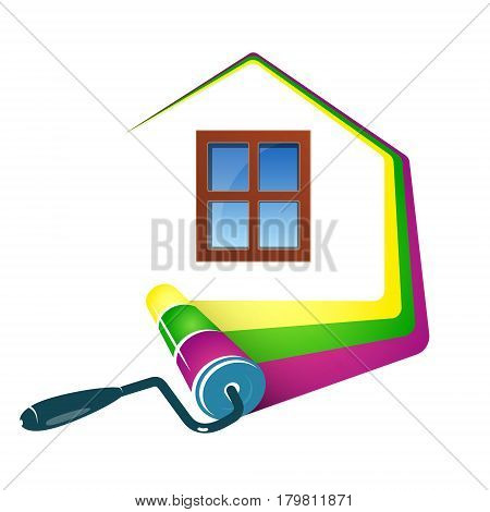 Painting home design business roller and paint