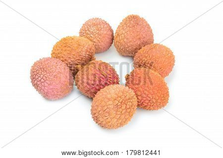 Litchi isolated on a white background with clipping path