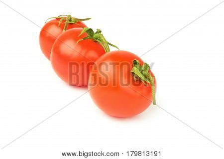 Tomato cherry isolated on a white background cutout
