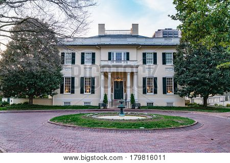 Virginia governor's mansion near the capitol in Richmond Virginia on March 25 2017.