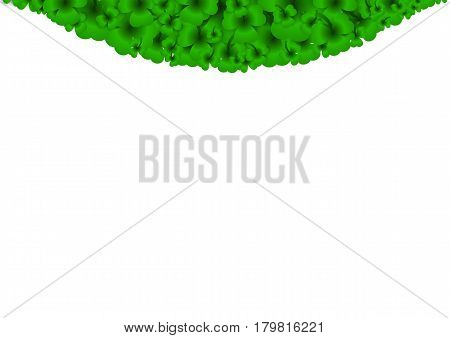 Saint Patricks Day Background with clover. Vector illustration.