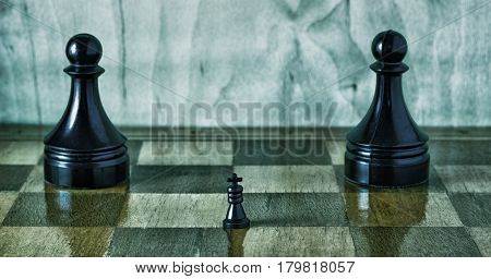 The greatest board game is very ancient invented in India called it chess battle are held on such a wooden board the goal of the game is to declare mate to the king of the opponent
