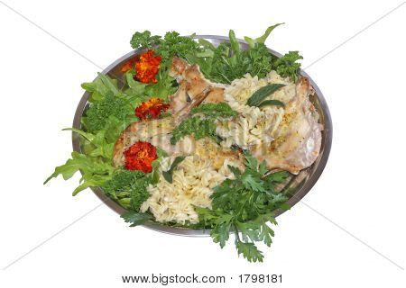 Baked Rabbit With Lettuce
