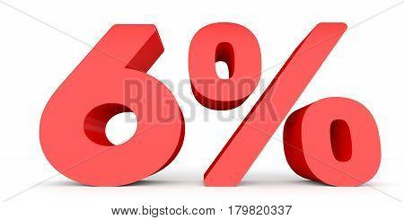 Six Percent Off. Discount 6 %.