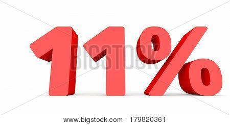 Eleven Percent Off. Discount 11 %.
