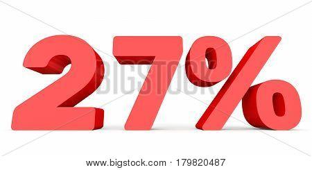 Twenty Seven Percent Off. Discount 27 %.