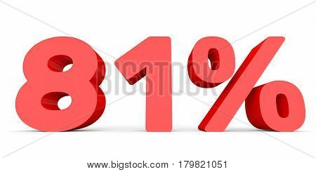 Eighty One Percent Off. Discount 81 %.