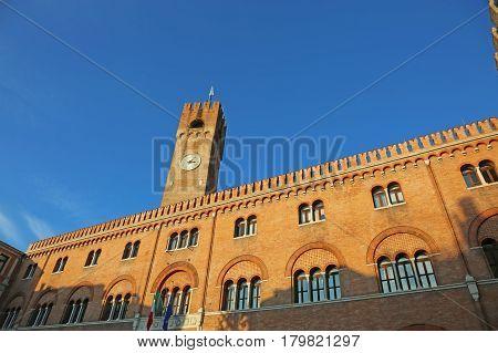Palace Of Thethree Hundred In Piazza Dei Signori Treviso Italy