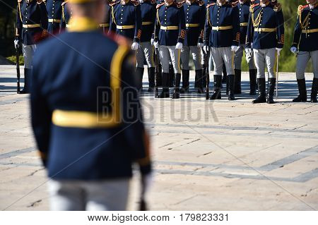 Guard Of Honor During A Military Ceremony
