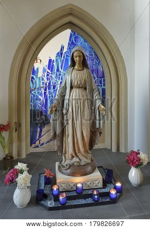 Wooden Statue In St James Priory
