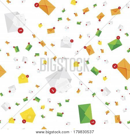New message notification icon. Vector seamless pattern flat illustration EPS 10