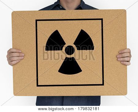 Radioactive Caution Warning Package Sign Symbol
