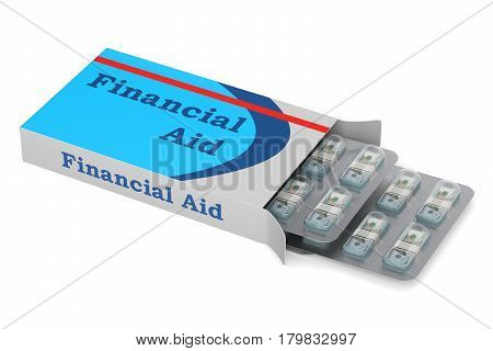 Financial Aid concept 3D rendering isolated on white background