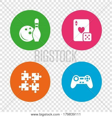 Bowling Casino Icons Vector Photo Free Trial Bigstock