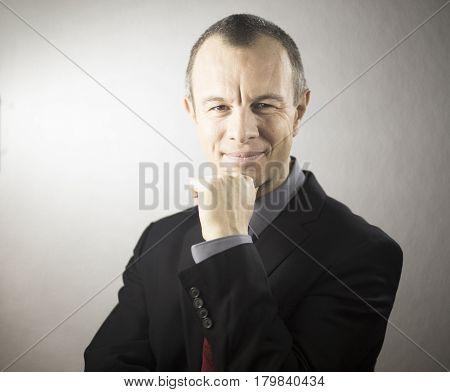 Businessman In Suit Listening