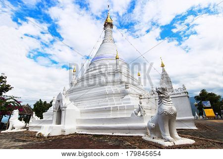 Temple Wat Phra That Doi Kong Mu at Mae Hong Son Thailand