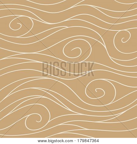 Swirly hand drawn background in vintage colors.