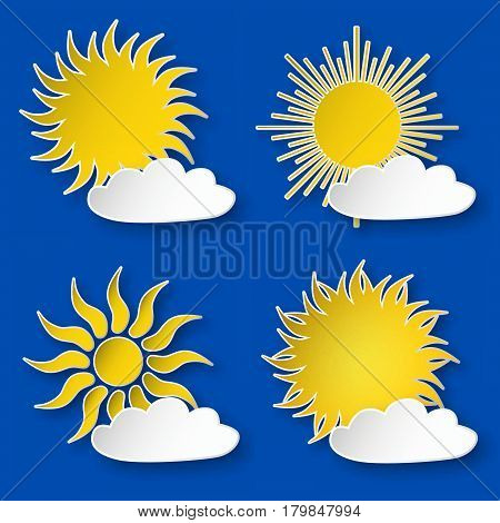 Paper Sun And A Cloud On The Sky