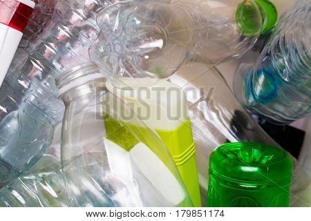 Photography of utilized plastic bottles