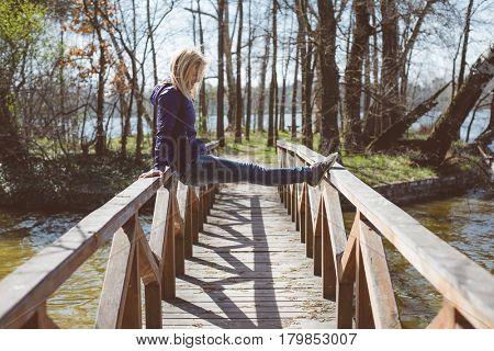 Young woman having fun outdoor