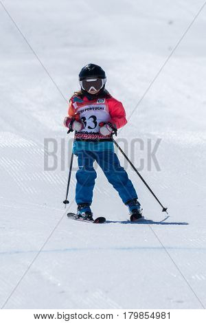 Beatriz Curto During The Ski National Championships