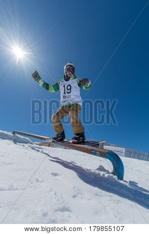 Guilherme Lopes During The Snowboard National Championships