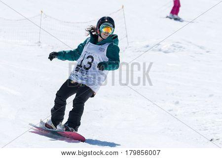 Ines Rainho During The Snowboard National Championships