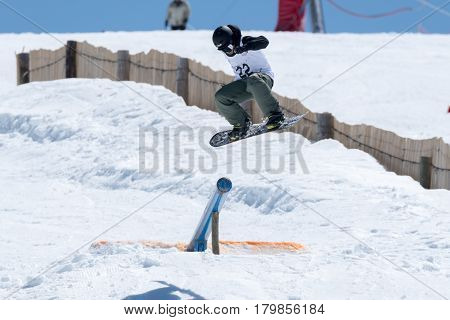Jorge Margarido During The Snowboard National Championships