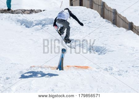 Mateus Morais During The Snowboard National Championships