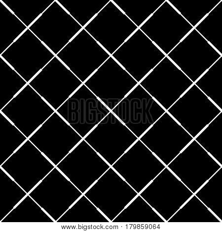 Seamless (repeatable) Geometric Abstract Monochrome Pattern. Tileable Geometrical Background / Textu