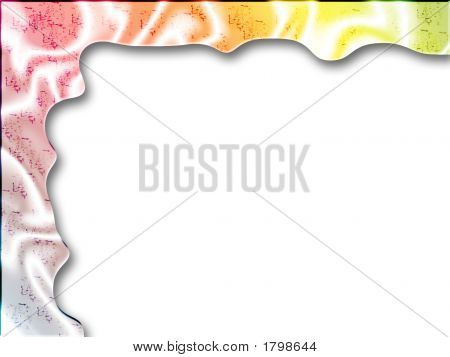 Silky Web Frame - Digital Abstract Border