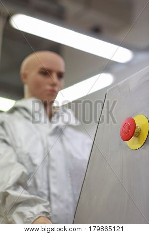 humanoid robot -  worker in factory