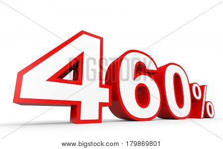 Four Hundred And Sixty Percent. 460 %. 3D Illustration.