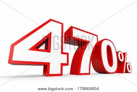 Four Hundred And Seventy Percent. 470 %. 3D Illustration.