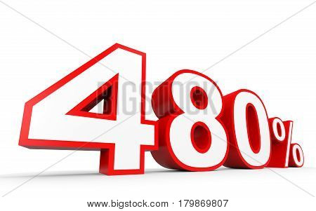Four Hundred And Eighty Percent. 480 %. 3D Illustration.